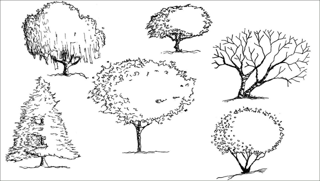 1363x771 Landscape Tree Drawings 181 Best Drawing Landscape Images
