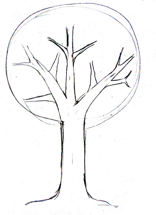 503x690 Tree Drawing Easy Landscape Drawing Tutorial How To Draw Easy