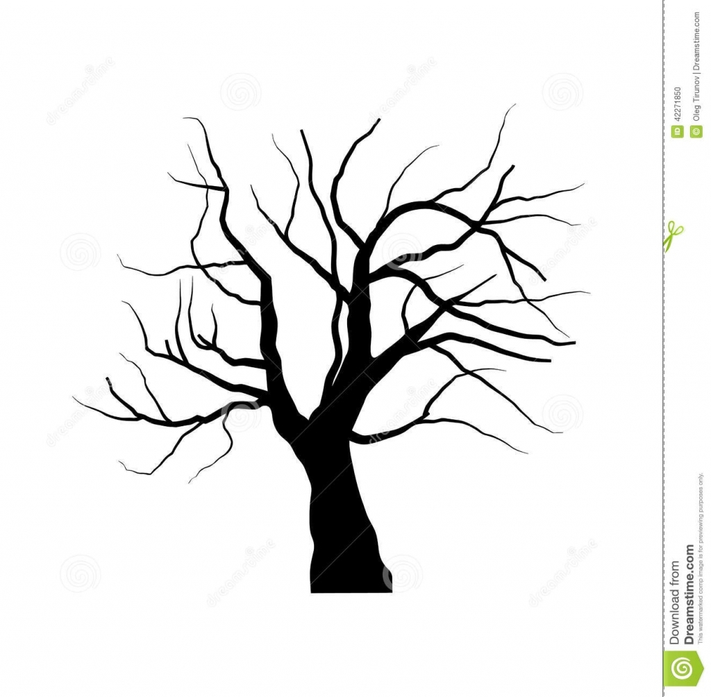 1024x1004 Drawing Of A Tree Without Leaves Tree No Leaves Clipart Black