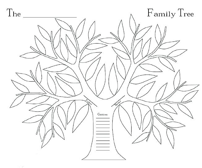 653x546 Family Tree Coloring Page Tree Trunk Coloring Page Family Tree
