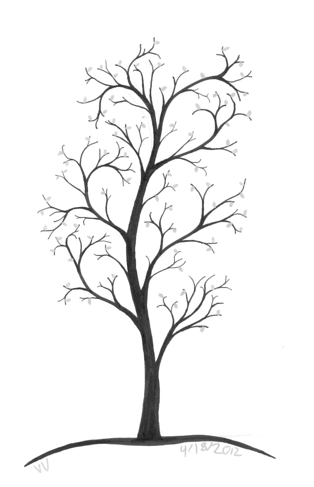 1011x1567 Silver Leafed Tree Ninth Circle Design