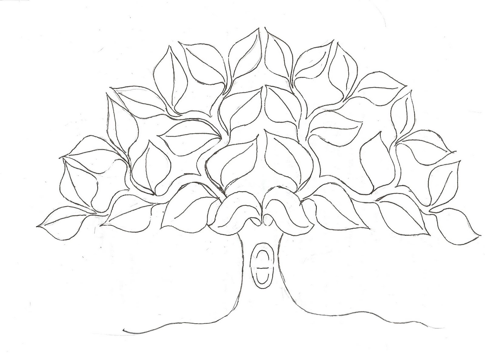 1600x1163 Tree With No Leaves Coloring Page