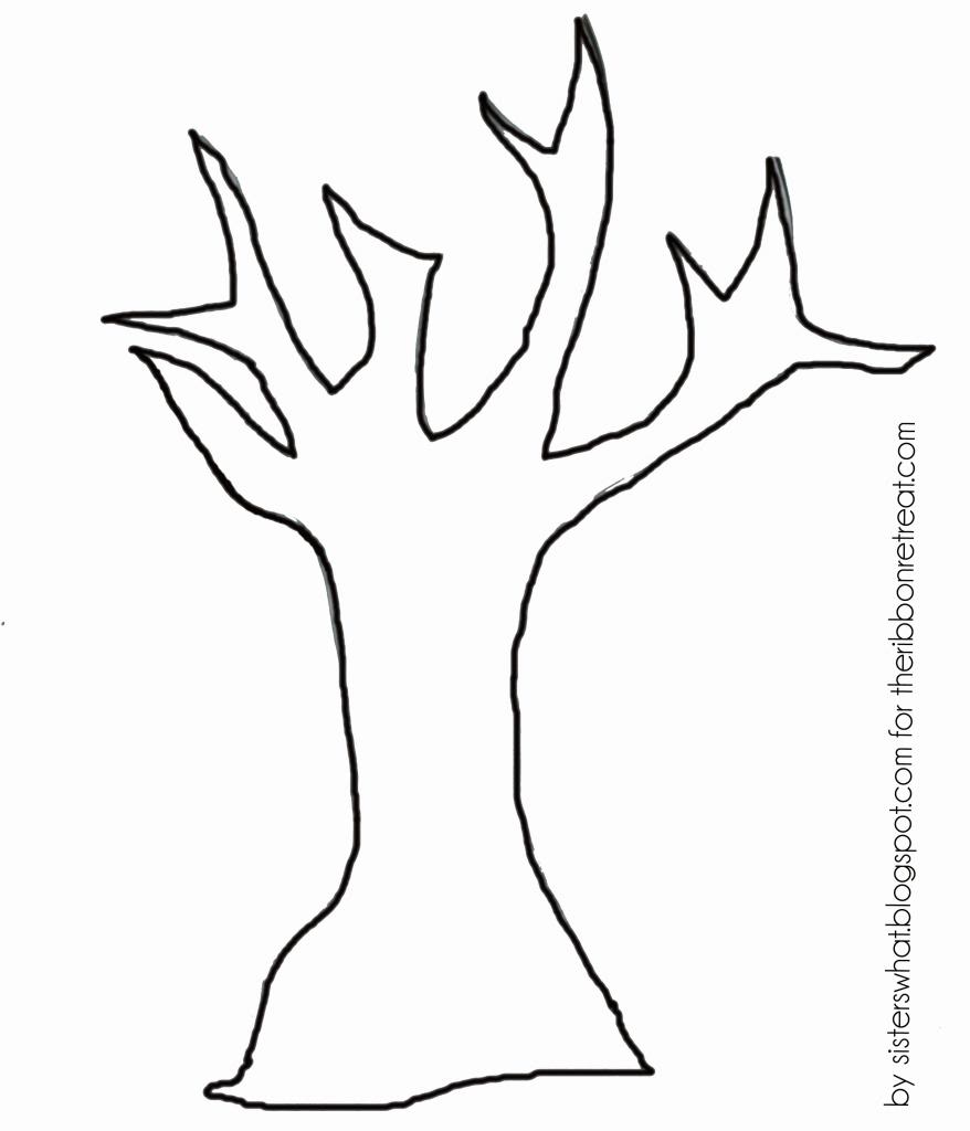graphic about Tree Pattern Printable referred to as Tree No Leaves Drawing at  Totally free for