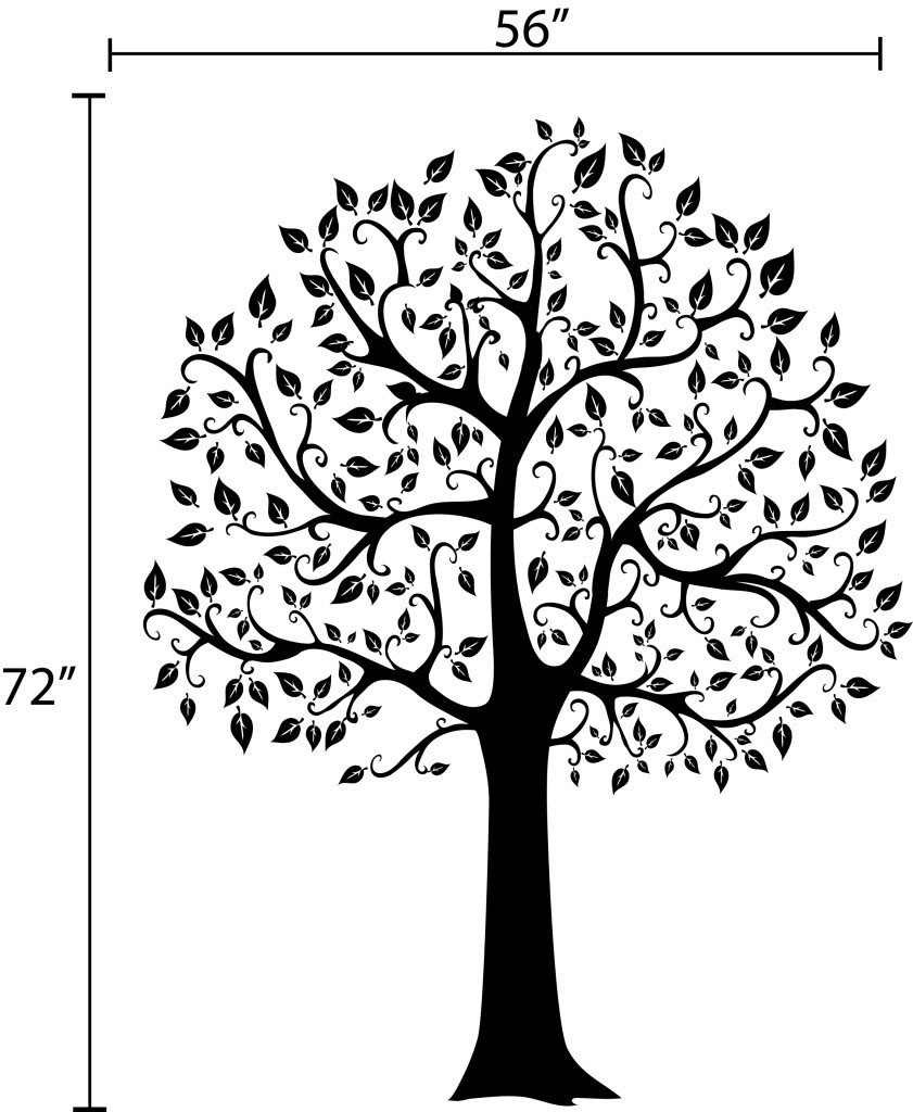 841x1024 Large Family Tree Wall Sticker Fashion Home Decoration Modern Tree