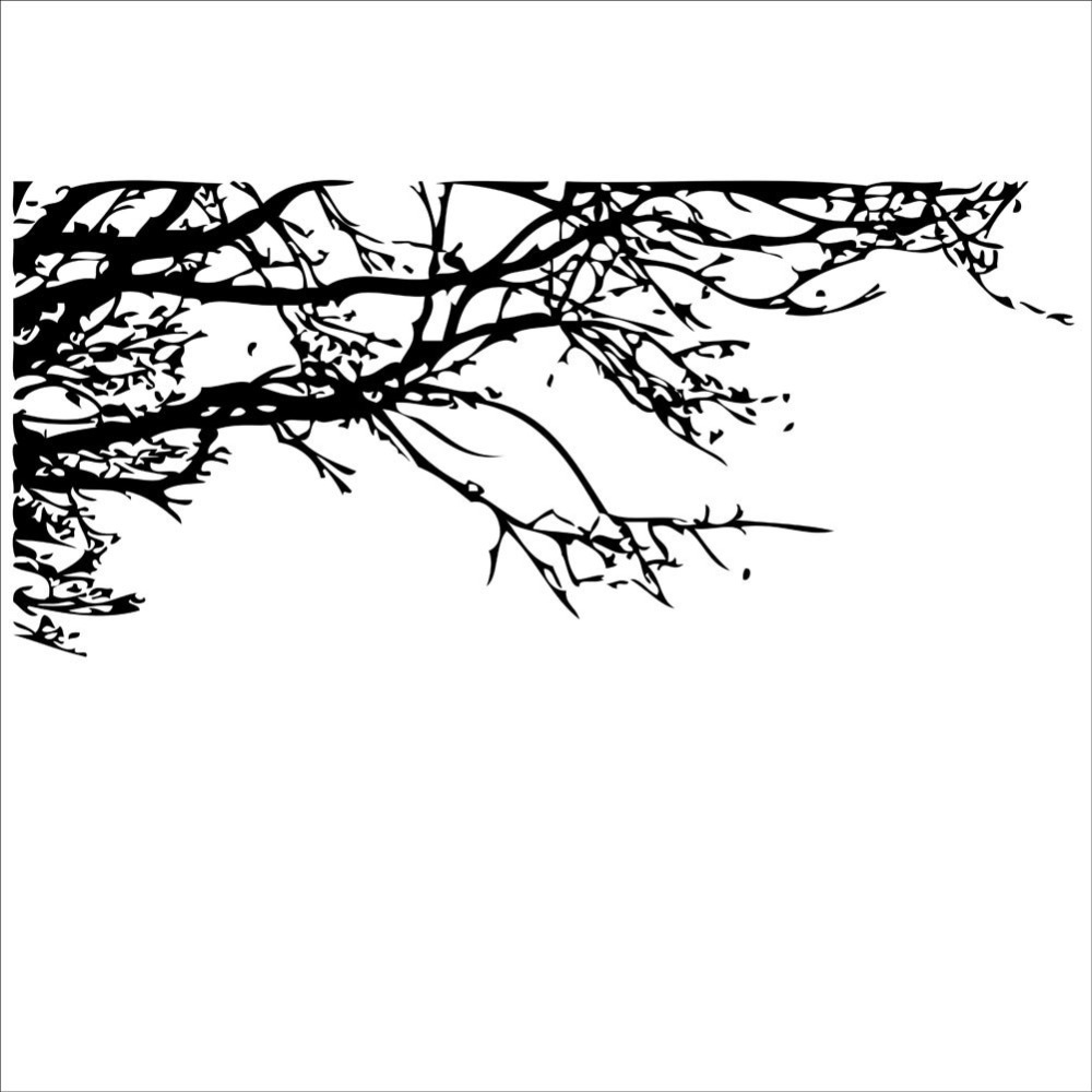1000x1000 Stickers Crayon Picture More Detailed About Black Tree Pictures