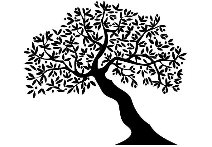 680x472 Tree Leaning Wall Decal