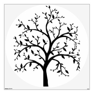 324x324 Tree Silhouette Wall Decals Amp Wall Stickers Zazzle