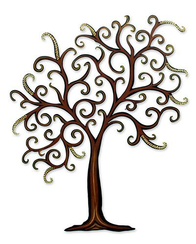 400x498 Unique Leaf And Tree Steel Wall Art,