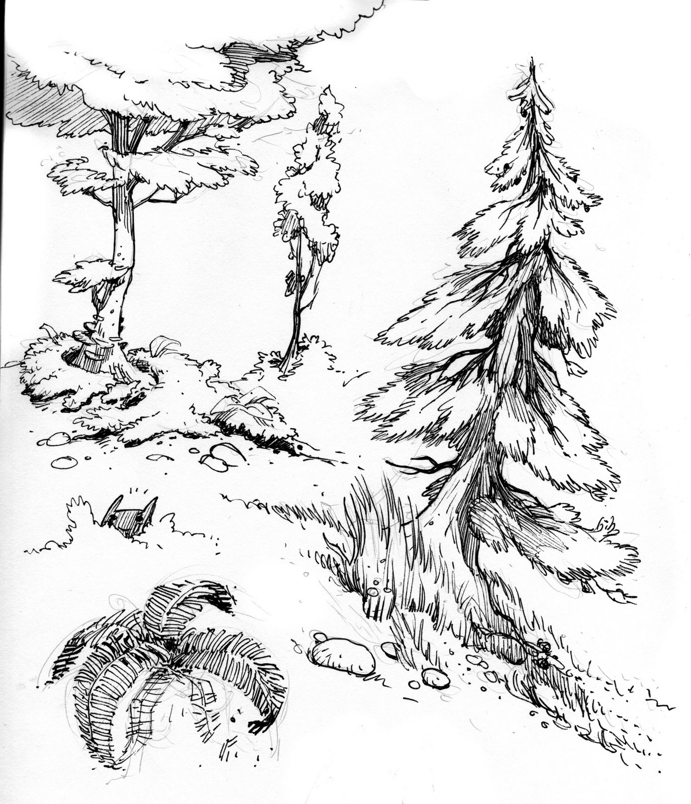 1375x1600 Trees 4.jpg] Trees Tree Planting, Drawing