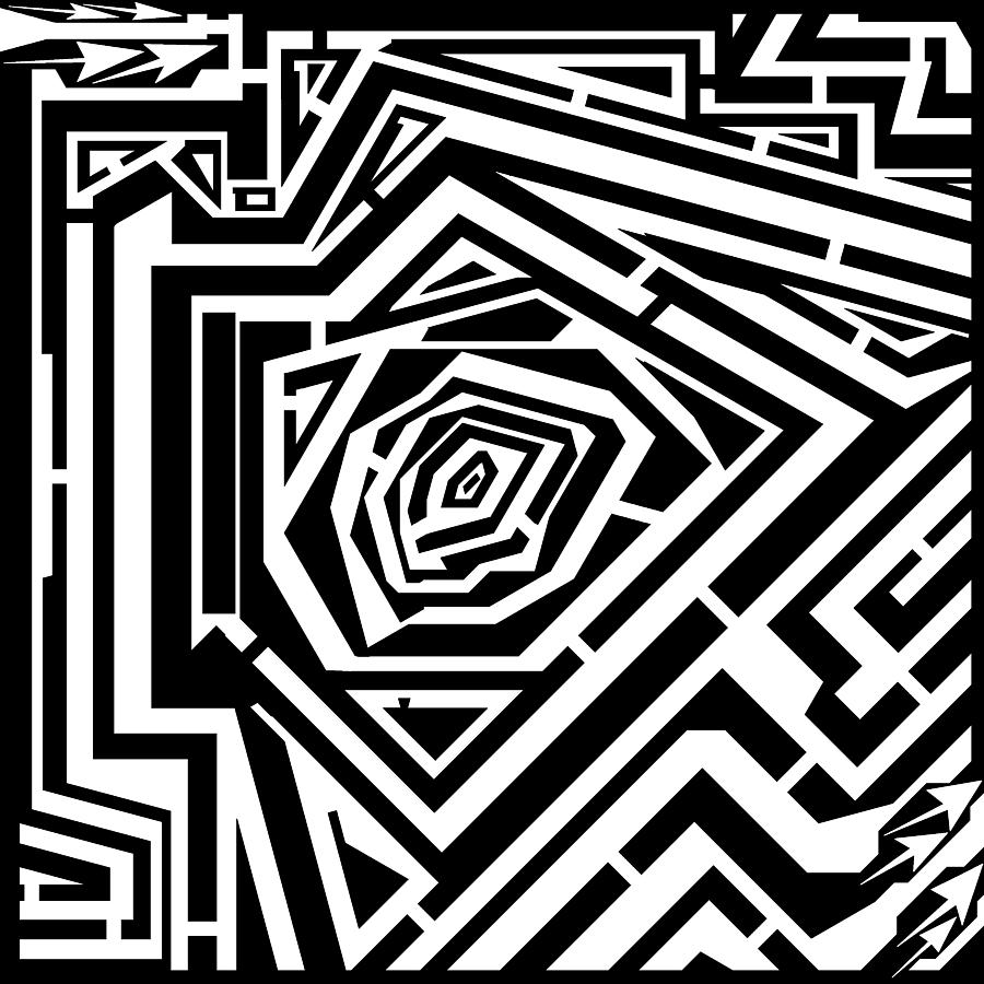 900x900 Tree Rings Abstraction Maze Drawing By Yonatan Frimer Maze Artist