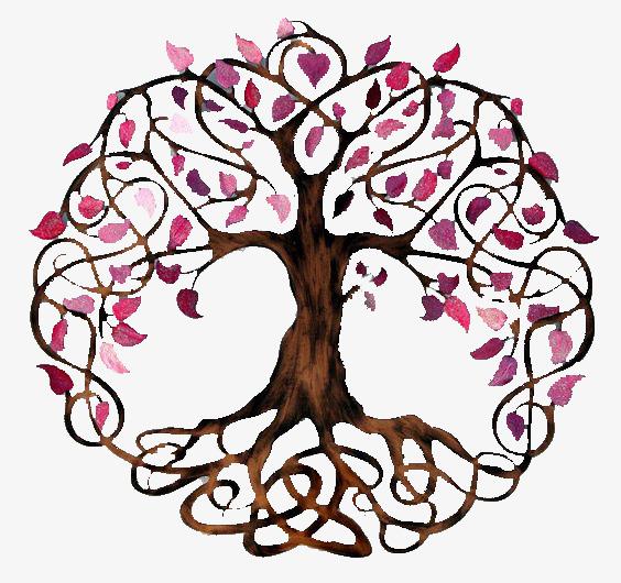 564x530 Purple Leaves Tree, Purple Leaves, Tree, Root Png Image For Free