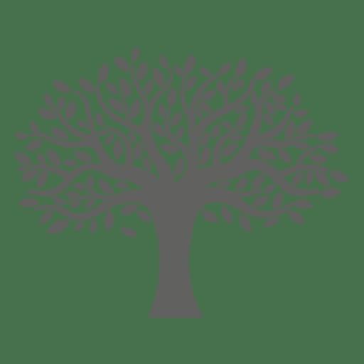 512x512 Flat Tree Silhouette