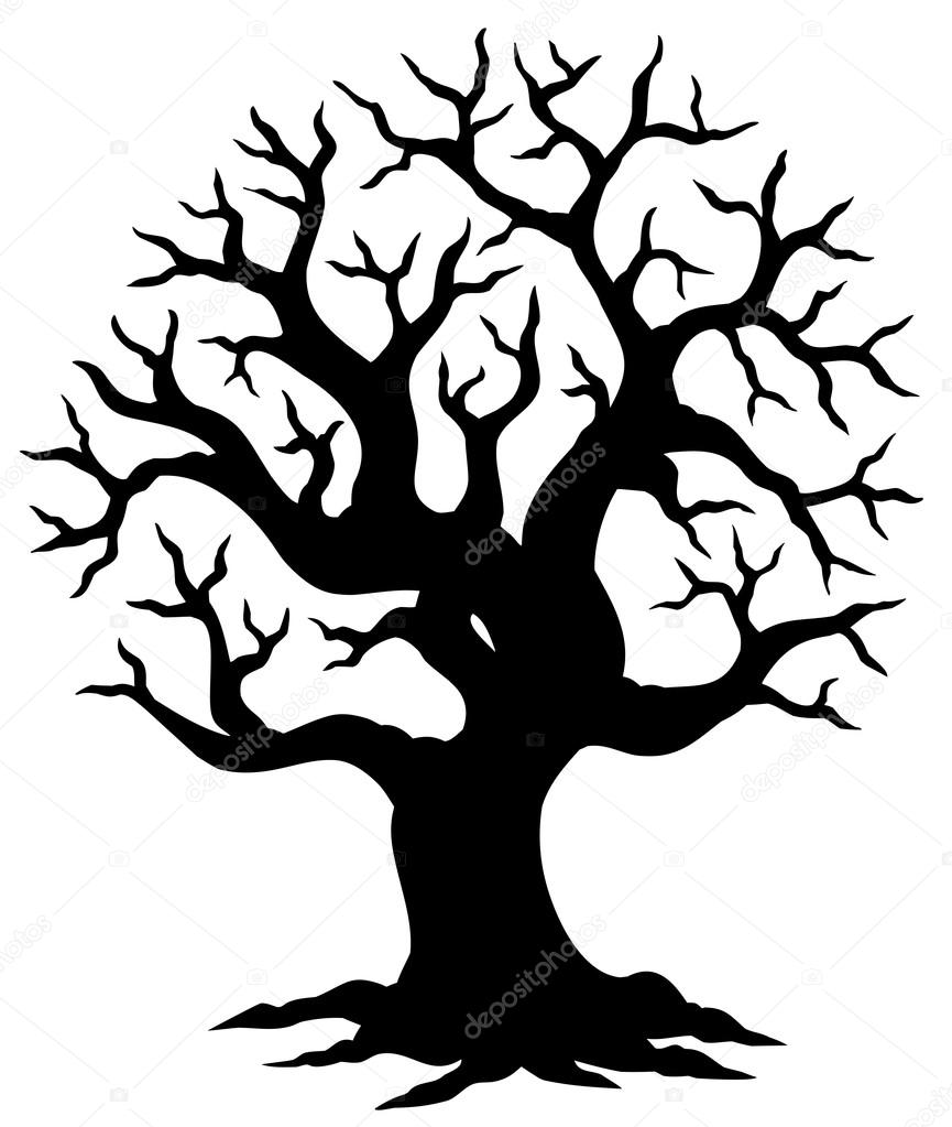 865x1023 Hollow Tree Silhouette Stock Vector Clairev
