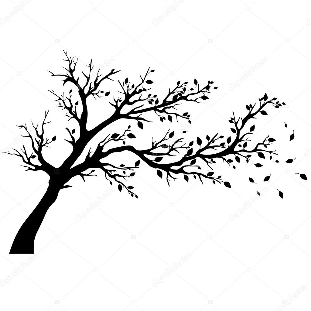 1024x1024 Tree Silhouettes. Stock Vector Loca