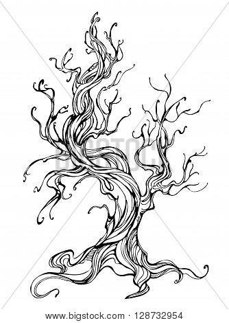 334x470 Artistically Drawn Old Tree Vector Amp Photo Bigstock