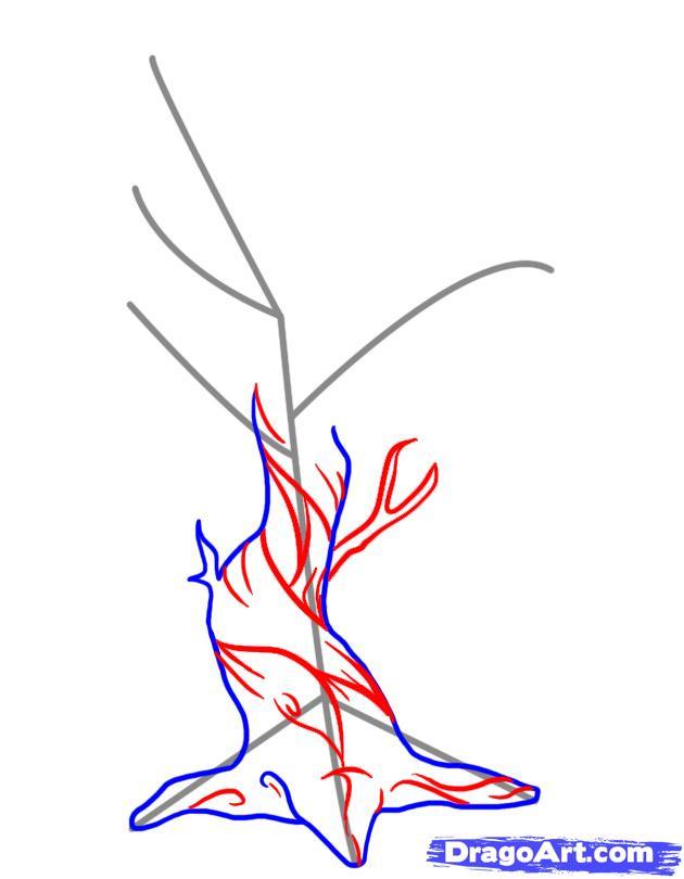630x810 How To Draw A Dead Tree Step 4 Misc Art Info Draw