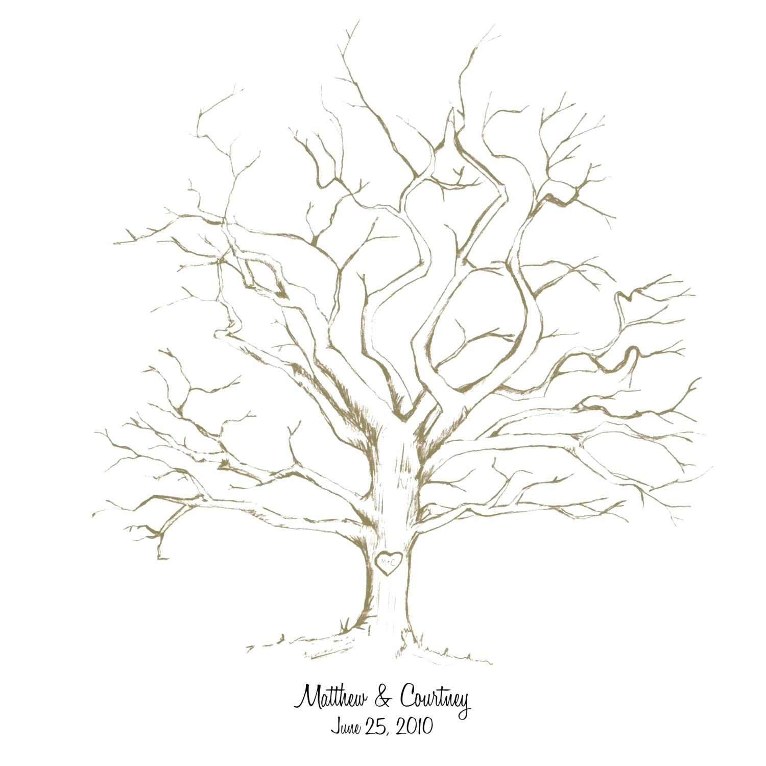 This is a graphic of Shocking Leafless Tree Drawing