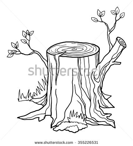 tree trunk outline