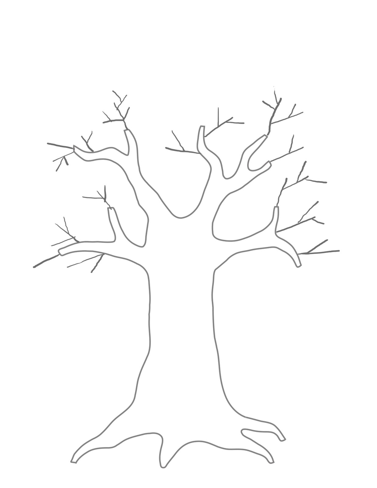 how to draw a tree trunk with branches