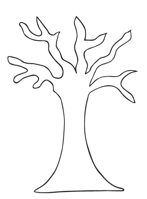 500x675 Tree Pattern Without Leaves Coloring Page Pinterest Of Trunk We