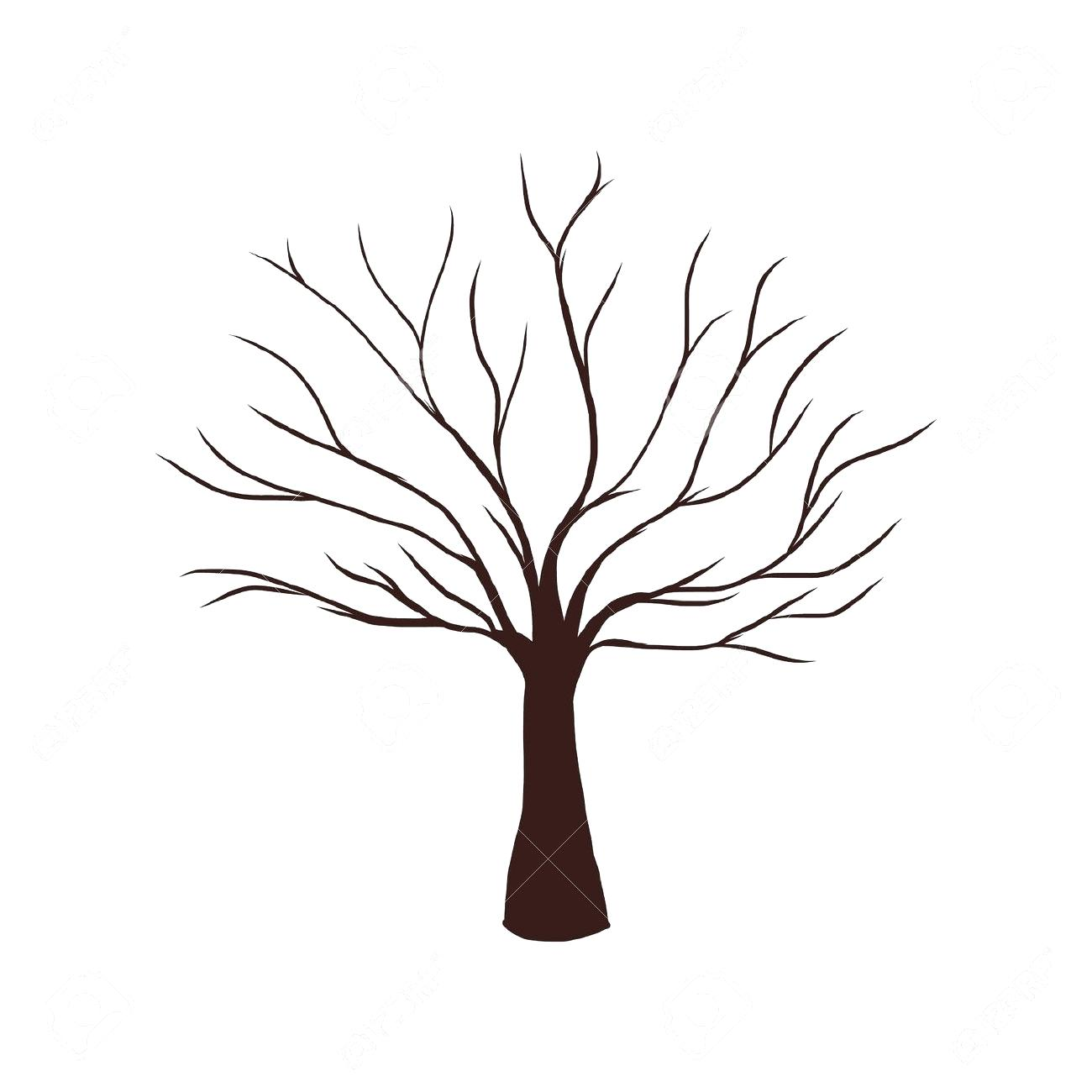 1300x1300 Coloring Tree Trunk Page Drawing Images Pictures No