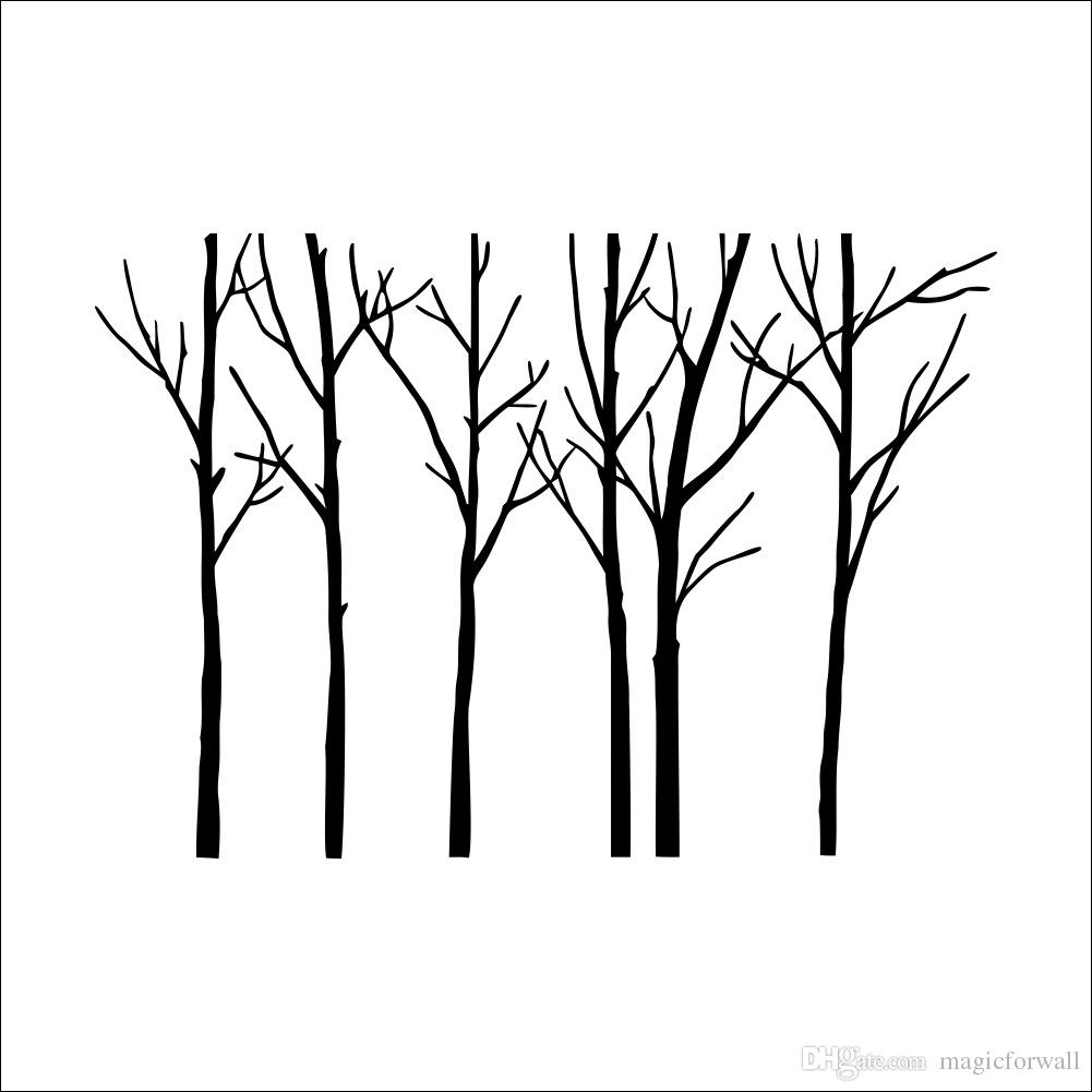 1001x1001 Extra Large Black Tree Branches Wall Art Mural Decor Sticker