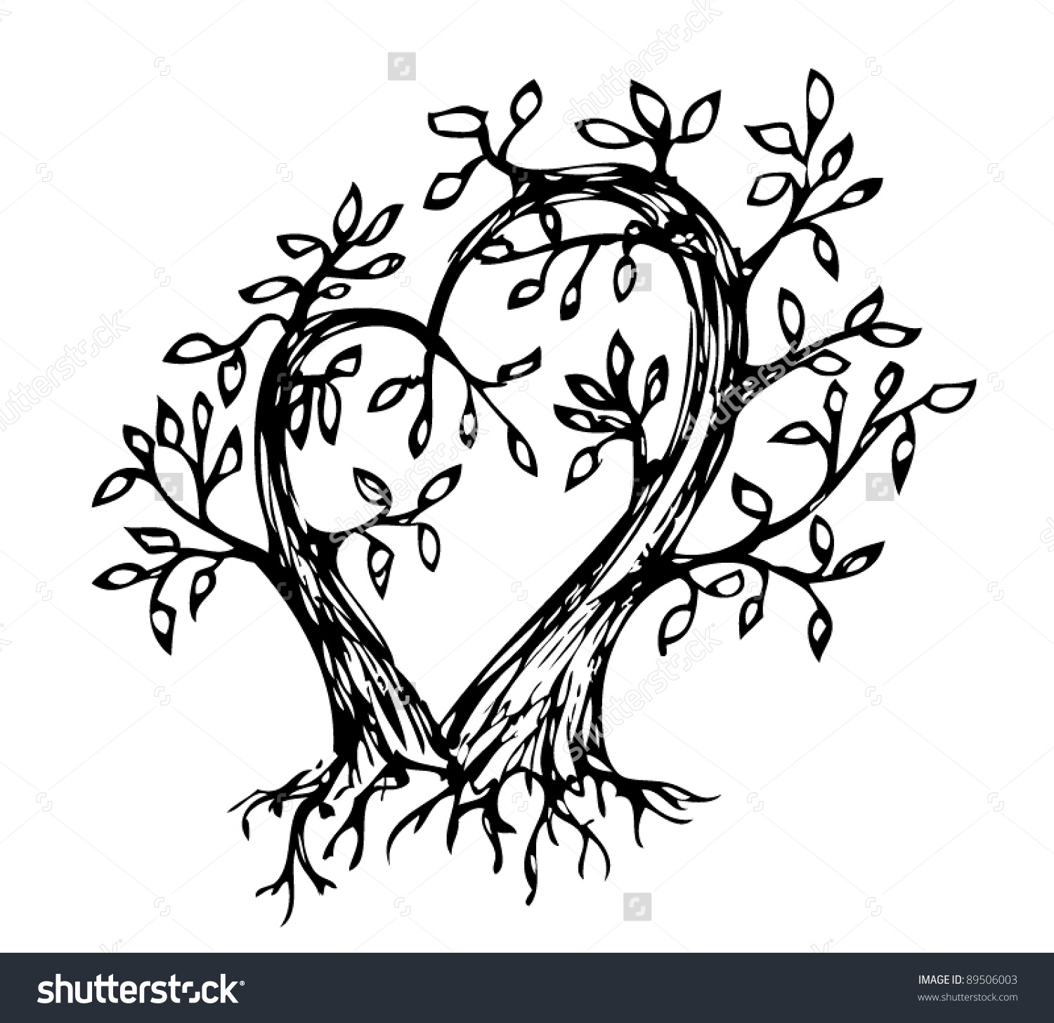 1500x1456 Intertwined Tree Clipart