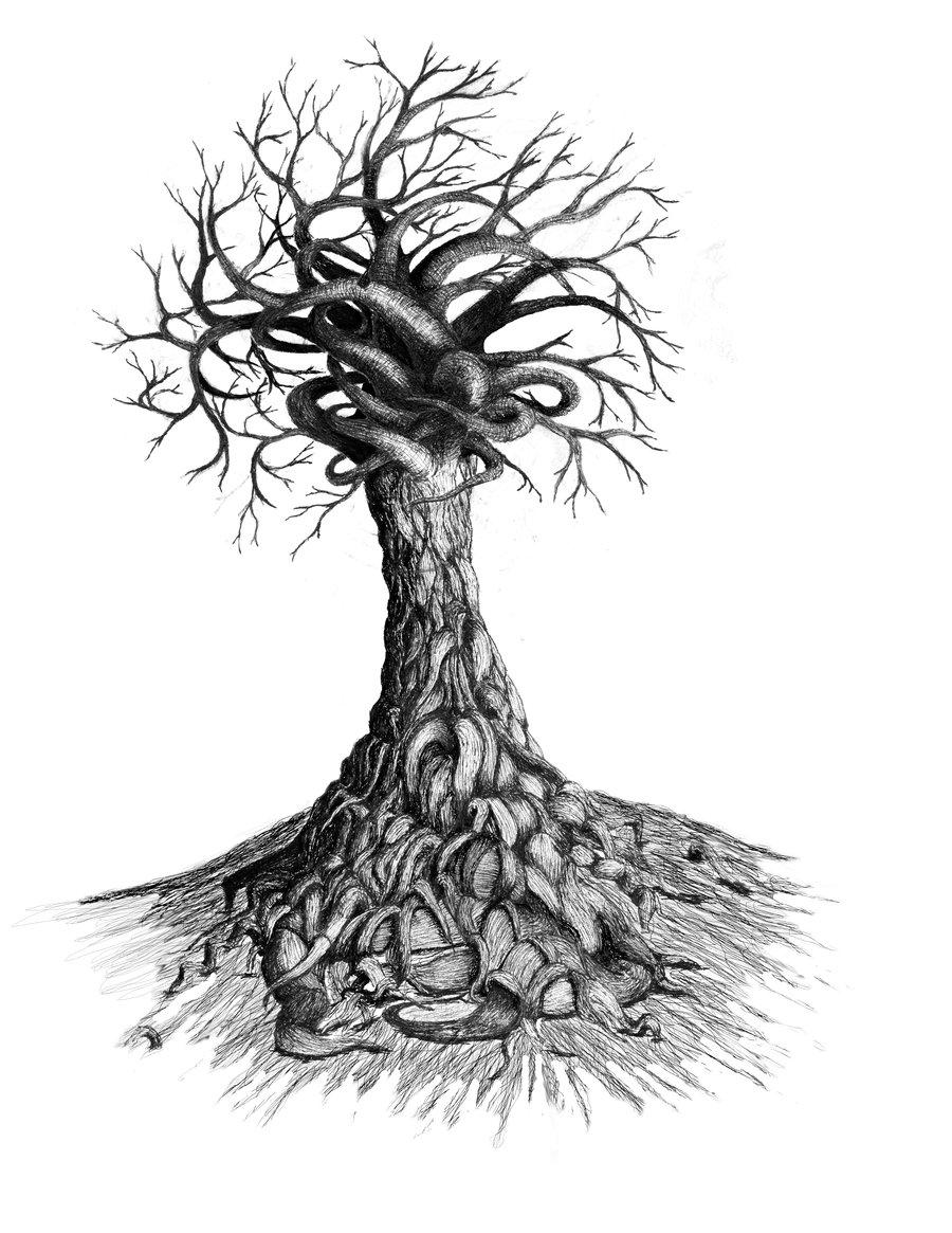 900x1165 Twisting Tree 2 By Dizdrawspictures
