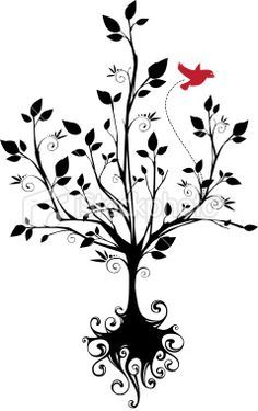 236x375 Simple Tree With Roots Drawing Love The Idea Of Getting A Tree