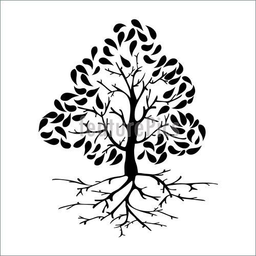 500x500 Tree Icon Silhouette Illustration