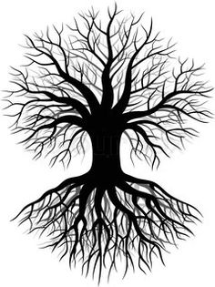 236x315 Tree Roots Sketch Treesa's Tree Decor For My Salon