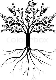 224x320 Decorative Tree Amp Roots , Vector Illustration Stock Vector