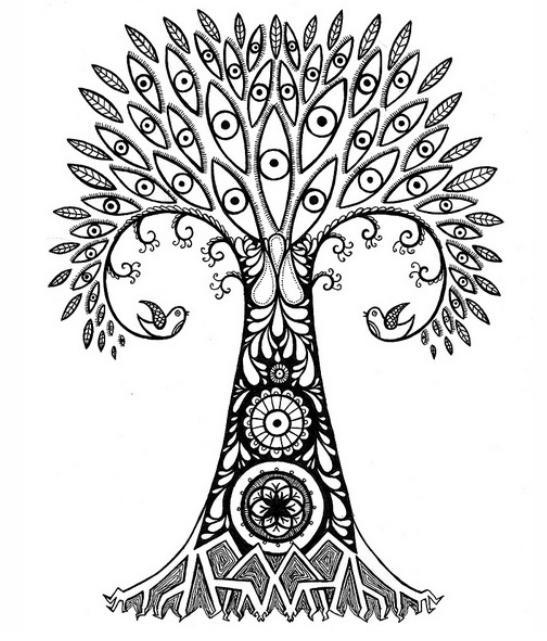 547x641 Draw Pine Trees