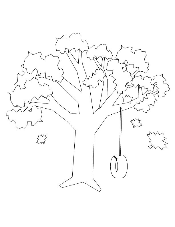 612x792 11 Images Of Tree Swing Coloring Pages