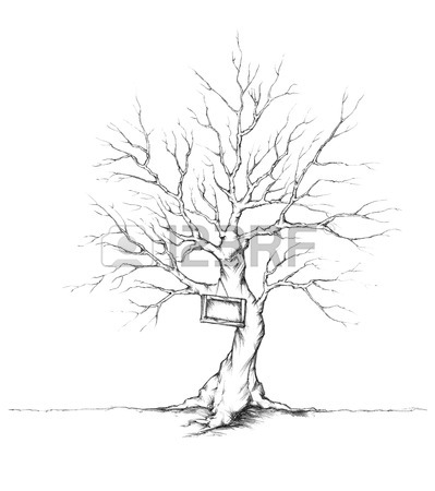 399x450 Illustration Of A Tree With A Swing Stock Photo, Picture