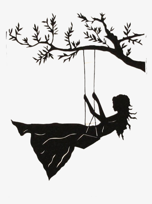 500x671 Swing Girl Decorative Painting, Hand Painted, Swing, Girl Png