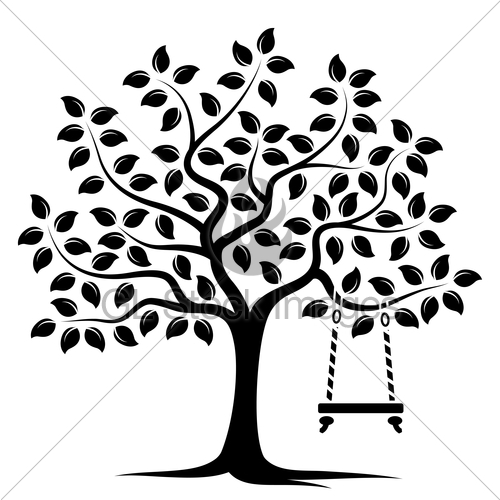 500x500 Tree With Swing Gl Stock Images