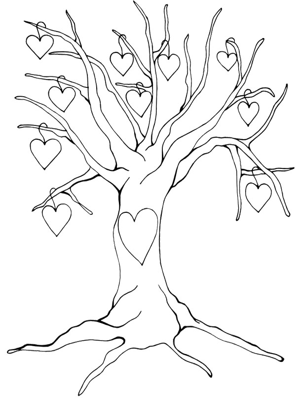 Tree without leaves drawing at free for for Coloring pages of trees without leaves