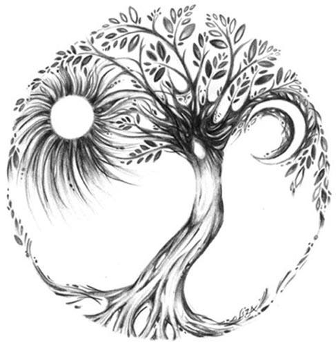 Tree Woman Drawing