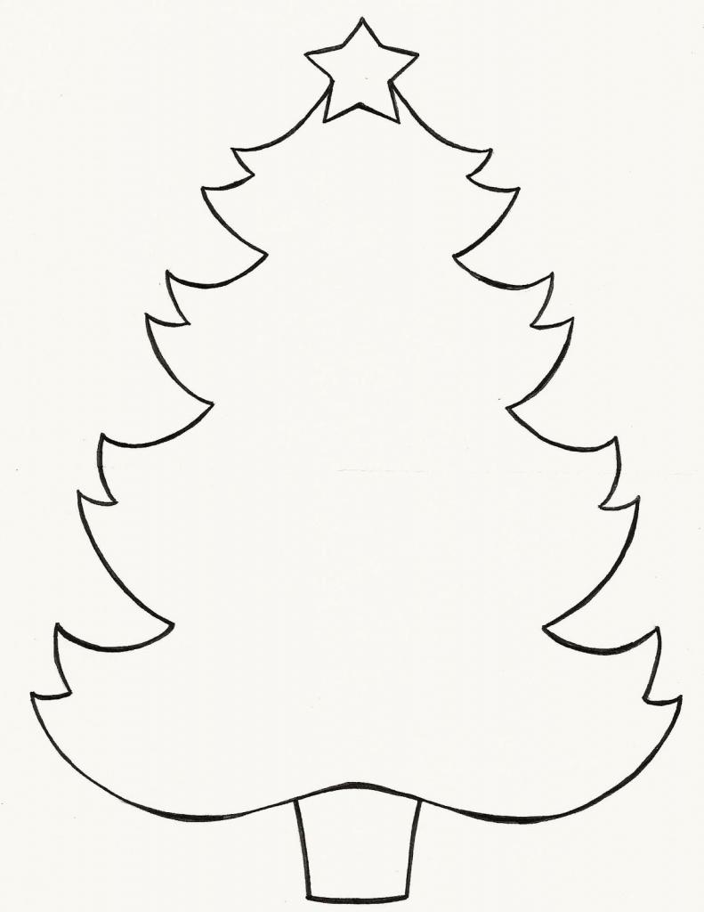 791x1024 Easy Christmas Tree Drawing Christmas Tree Line Drawing Clipartsco