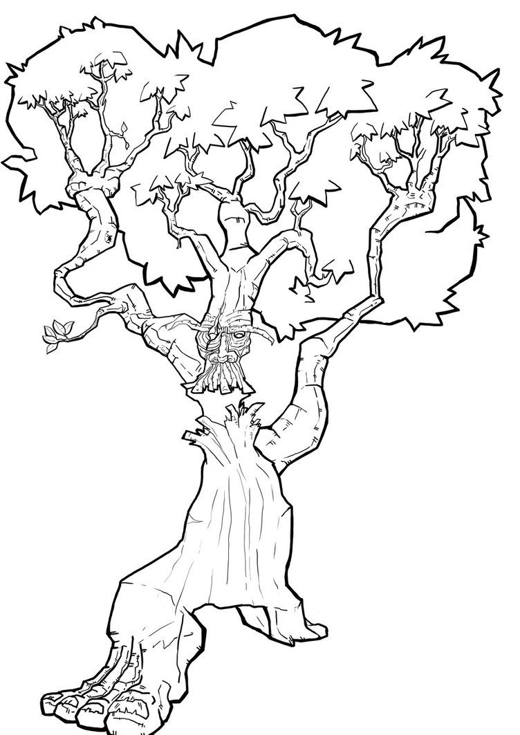 752x1063 Tree Line Drawing By Wes D84