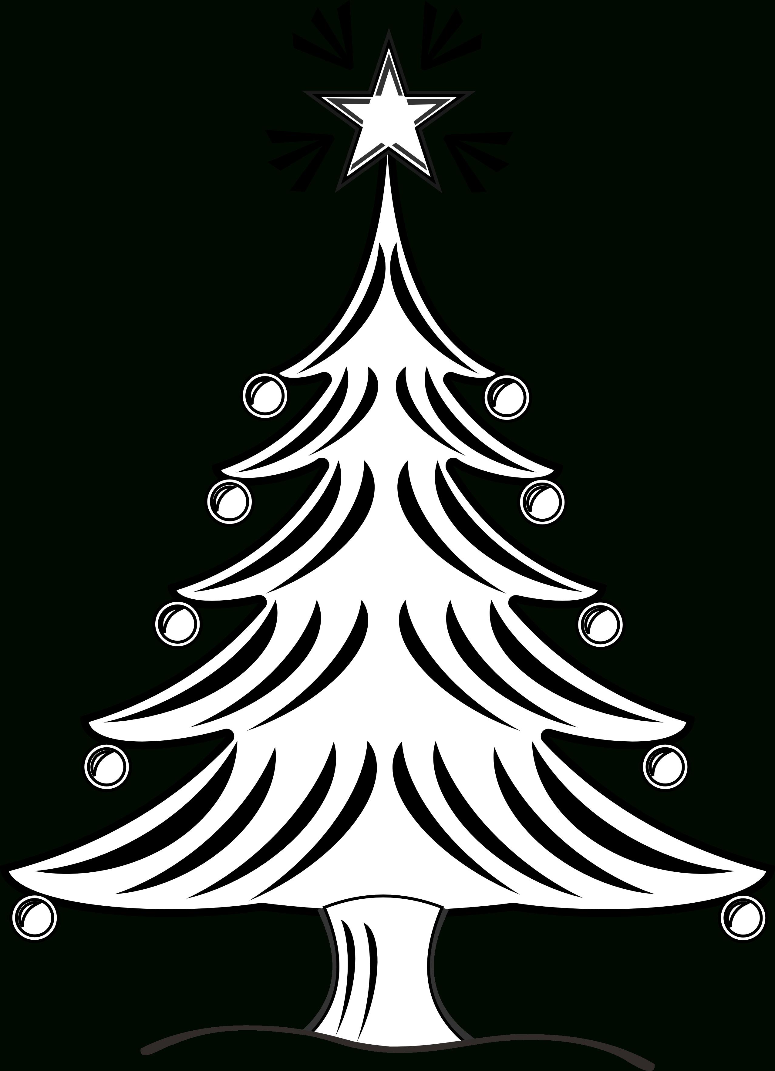 2555x3531 Christmas Tree Line Drawing