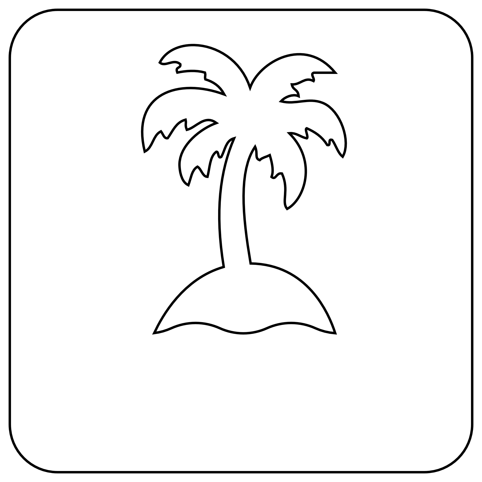 1969x1969 Tree Clipart Black And White