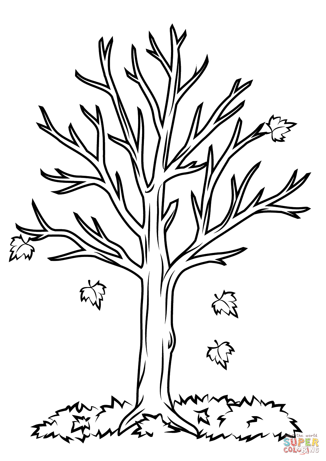 1060x1500 Fall Tree Coloring Pages In Beatiful Draw Photo Printable