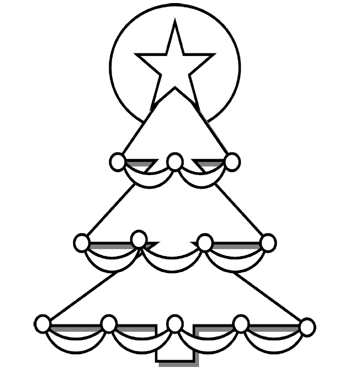 663x719 Christmas Tree Coloring Page Nuttin' But Preschool