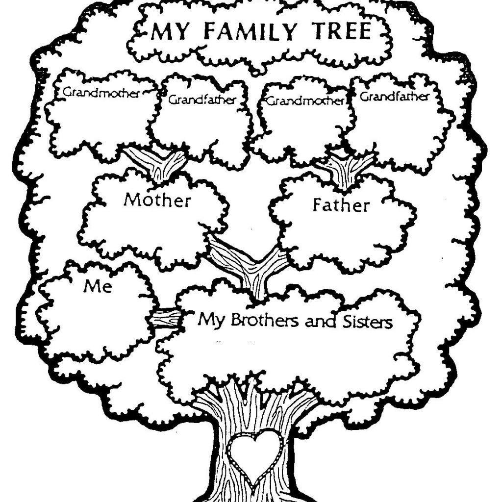 1024x1024 Family Tree Coloring Pages Printable To Humorous Draw Our 2 Page
