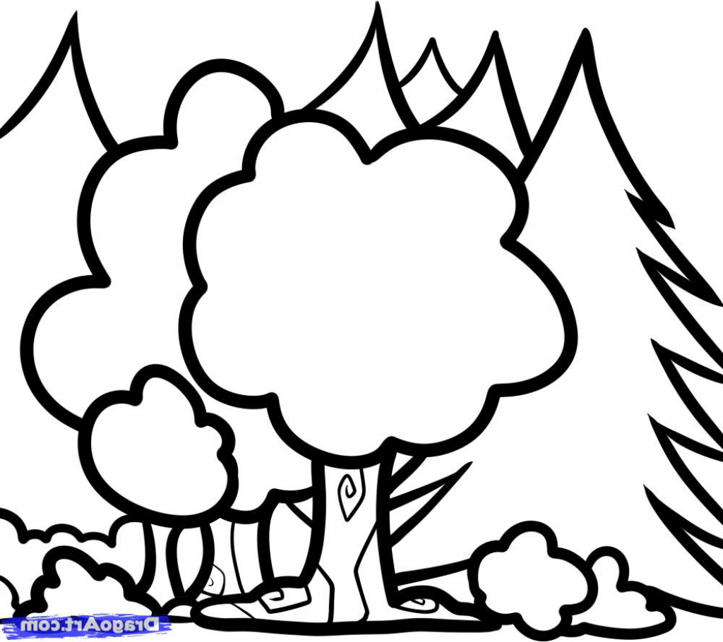 1024x910 Kids Sketch Drawings Sketch Drawing Kids How To Draw Trees