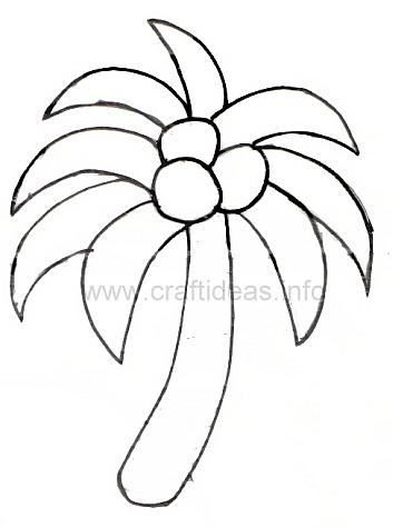 353x475 Palm Tree For Kids Coloring Page Free Download