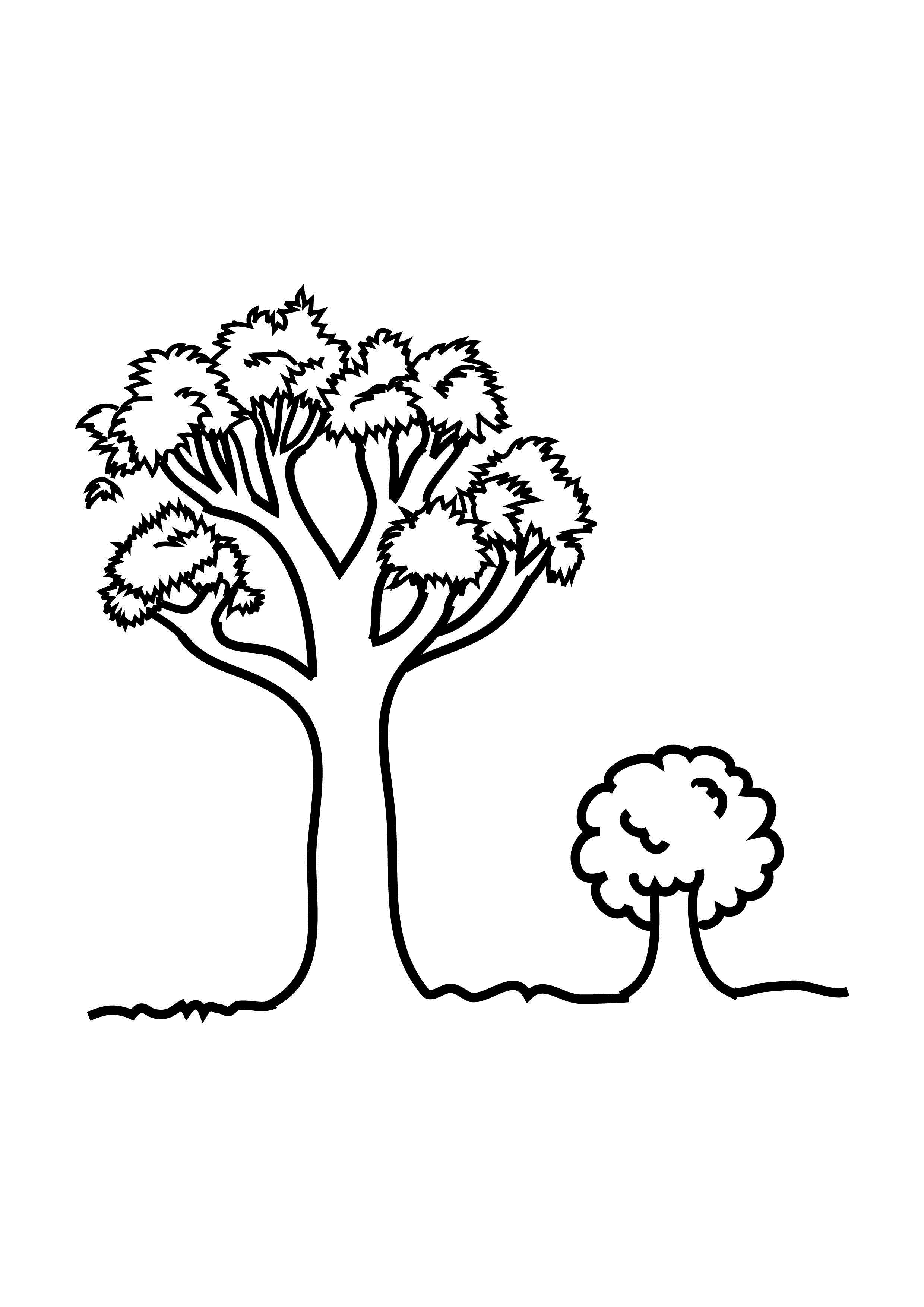 2480x3508 Tree Small Drawing Free Printable Tree Coloring Pages For Kids