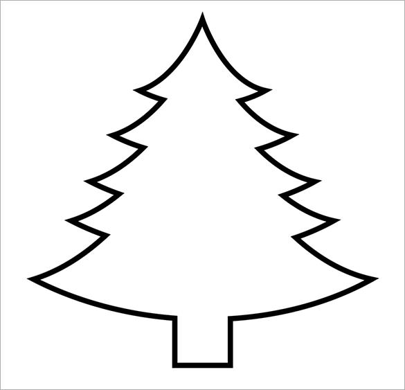 585x563 Christmas Tree Outline Printable Colouring In Beatiful Draw Image